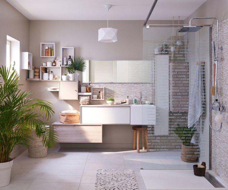 Une salle de bains avec une douche à lu0027italienne zen Sanary - salle de bains avec douche italienne