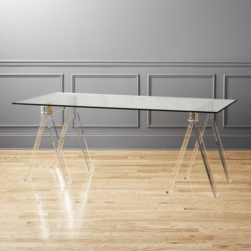 "Shop Foundry 72"" Acrylic Desk. Classic Shape, Unexpected"