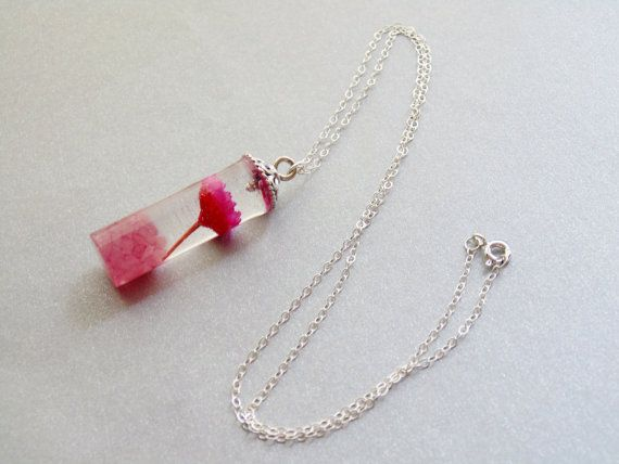 Daisy Necklace Rose Quartz and Daisy Pendant by WishesontheWind