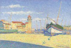 Achille Laugé, Barque de pêche à Collioure