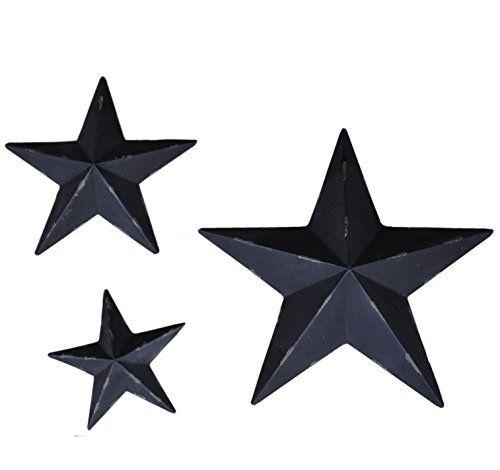 Metal Stars Wall Decoration Mounted Wall Art