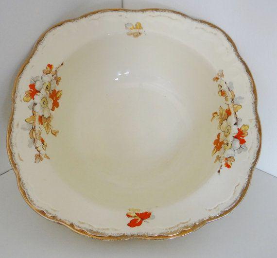 Vintage Alfred Meakin Marquise Shape Marigold Pattern by crabtulip £10.00 & Vintage Serving Bowl Alfred Meakin Marquise Shape Marigold Pattern ...