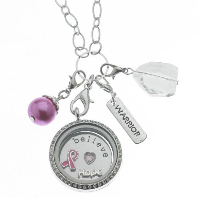 Ribbon Floating Locket Necklace - Kaydees Gift Store