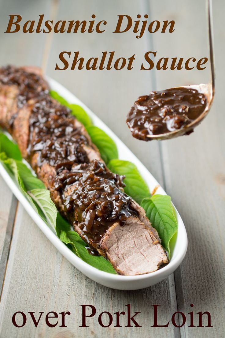 Pork Tenderloin with Balsamic Dijon Sauce is a Paleo, and gluten-free dish that's good enough to serve company but easy enough for a weeknight. It has a sophisticated blend of  savory and sweet flavors, including fresh sage, maple syrup, and shallots.