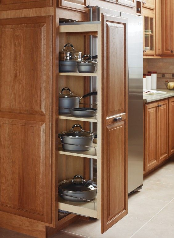Keep Heavy Pots And Pans Within Easy Reach With A Tall Pantry Pullout From Diamond Cabinets Kitchen Pantry Cupboard Pantry Cupboard Custom Kitchen Cabinets