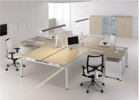 Mobiliario de oficinas para despachos espacios de for Mesa oficina moderna