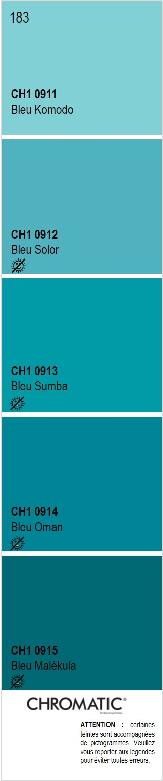 Découvrez toutes les nuances de bleu du nuancier CHROMATIC®, source ...