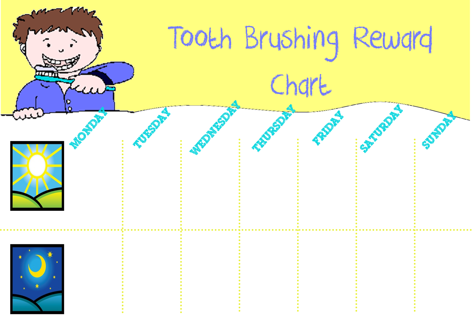 Teeth Brushing Chart  Google Search  Template Charts