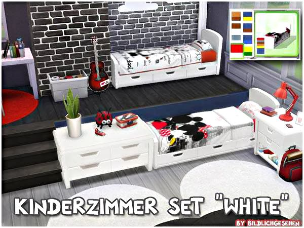"Sims 4: Kinderzimmer Set ""white"""