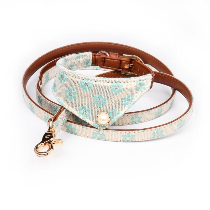 West Coast Woof Pearl Embellished Dog Collar Bandana Set Celebrate The Coming Of Spring With Our Pearl Emb Pet Leash Dog Collar Bandana Pet Accessories