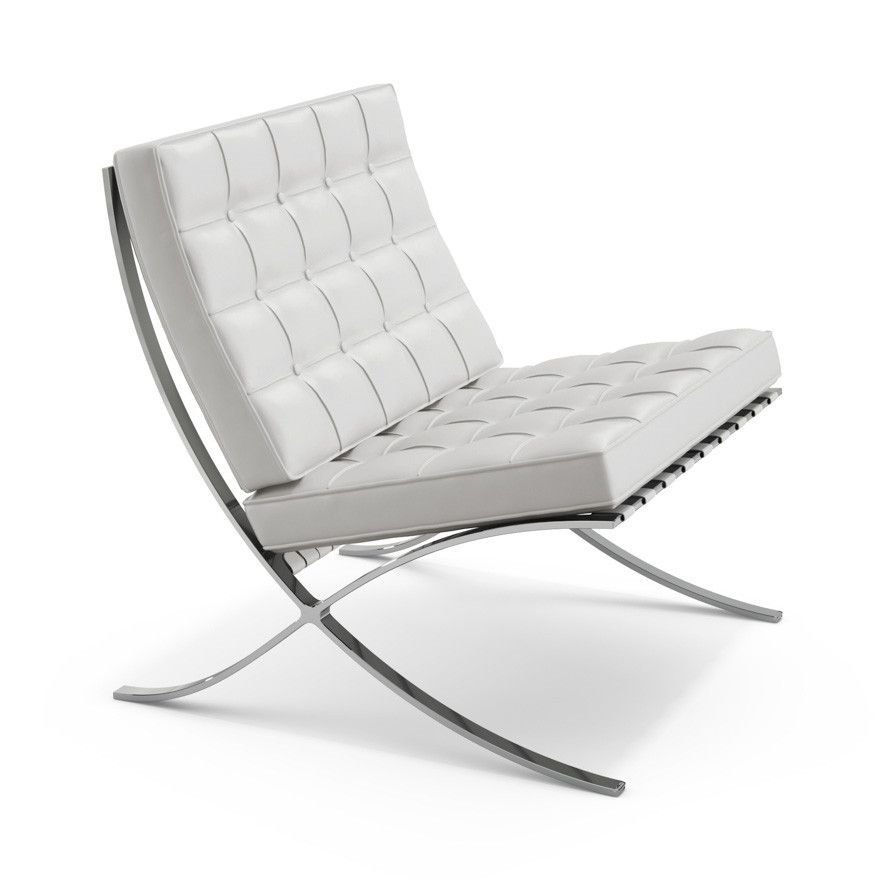 Knoll Mies Van Der Rohe Barcelona Chair Barcelona Chair Iconic Furniture Modern Leather Chair