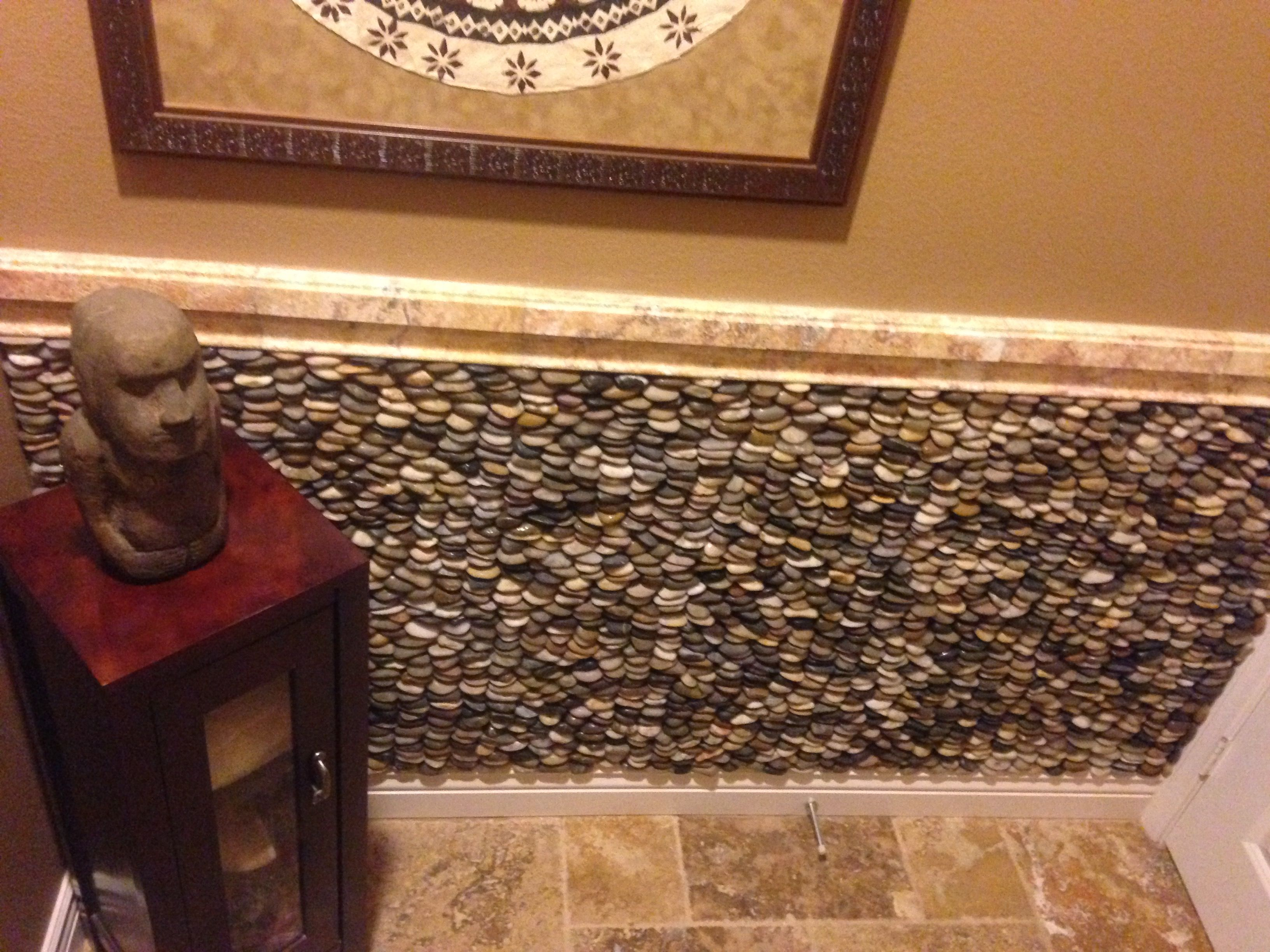 Amazing half-wall installation of Bali Ocean Standing Pebble. https ...
