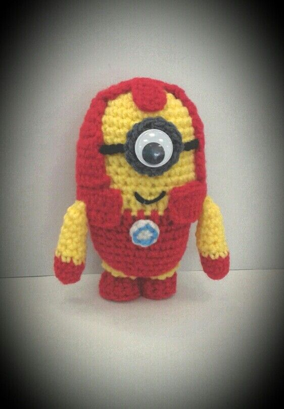 Iron Man Minion | amigurumi lovestly | Pinterest | Muñecas
