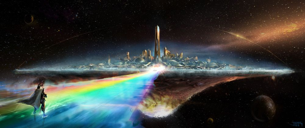 Image result for rainbow bridge thor