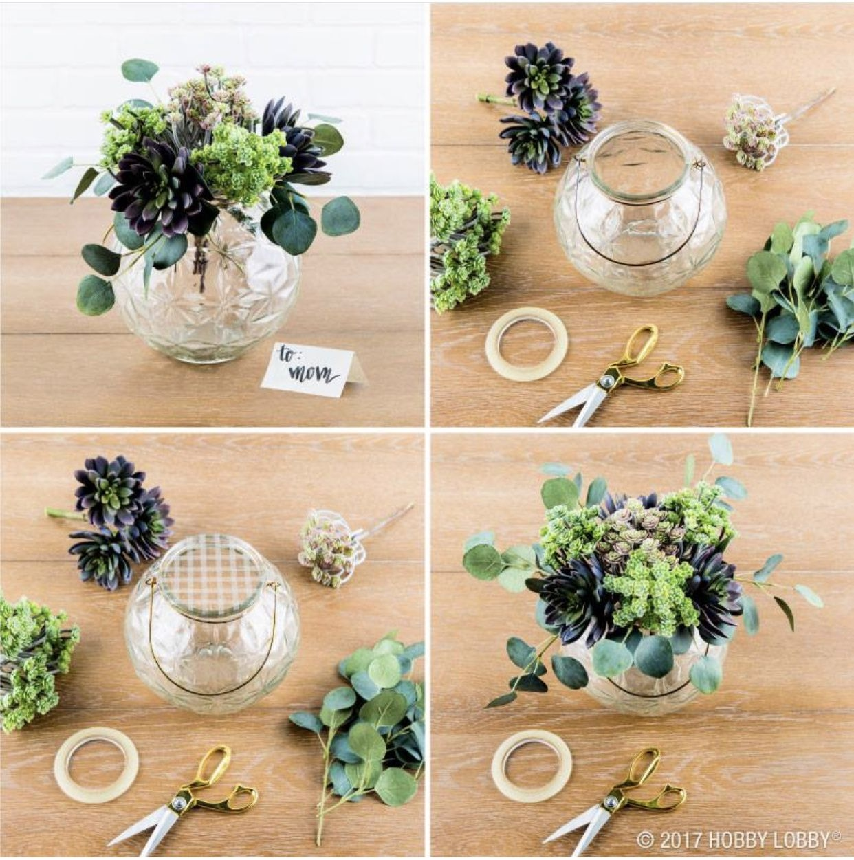 Hobby Lobby Wedding Ideas: Hobby Lobby-Small DIY Centerpiece - Greenery