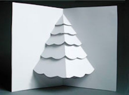 Pop Up Tree Card Template Pop Up Card Templates Christmas Tree Cards 3d Christmas Tree Card