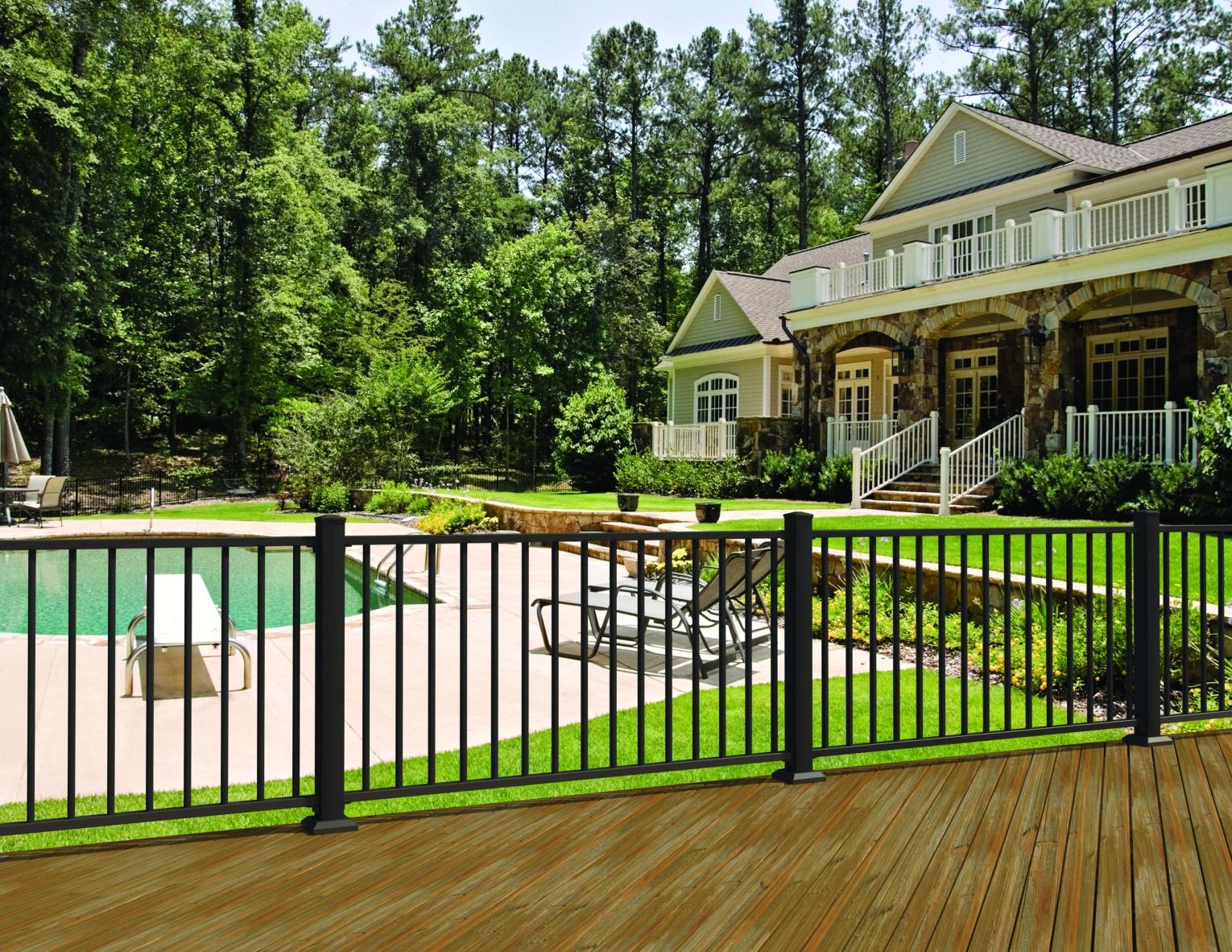 For a sleek yet modern look, enhance your landscape with
