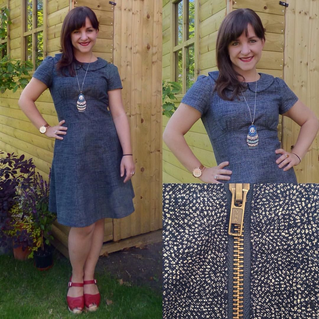 Modern dressmaker buttons - Indigo Flo Dress Tilly And The Buttons Megan Bodice Hacked To Beyond Recognition And By