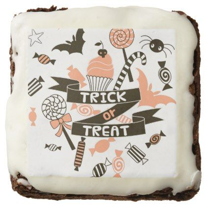 Trick or Treat Goodies Design Chocolate Brownie - #halloween - halloween design