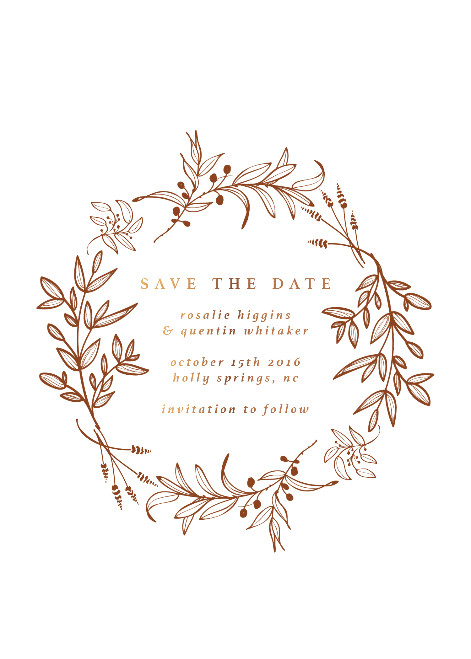 Bohemian save the dates minimalist wedding floral save the dates botanical wedding