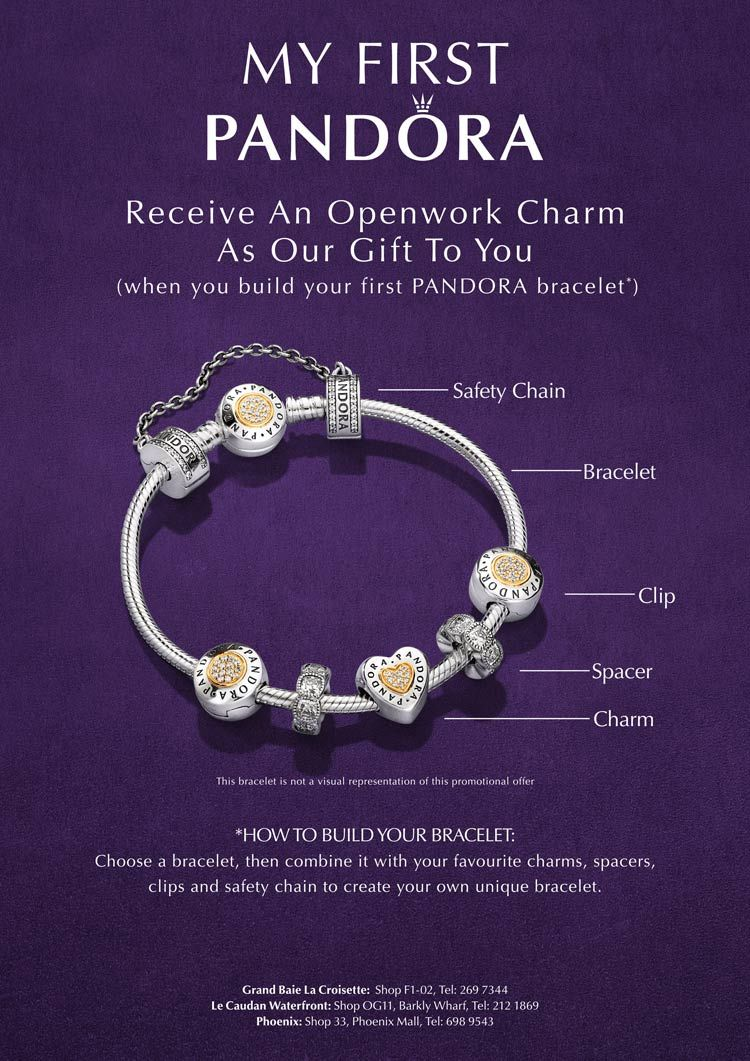 Pandora Mauritius Build Your First Bracelet From 22nd Sept 1 Oct And Receive A Charm Free Tel 269 7344 212 1869 698 9543