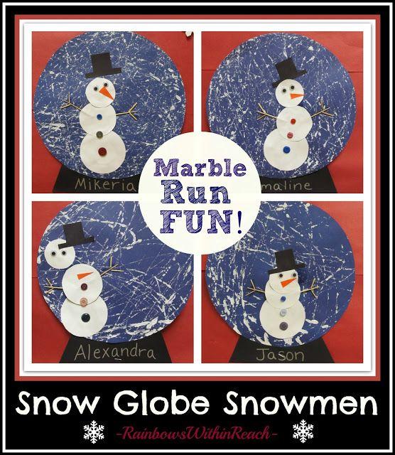 Snowman Snow Globe Art Project