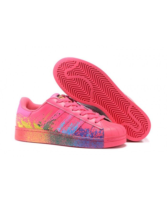 innovative design 64016 e94b4 Adidas Superstar Pride Pack Splash Peach Pink Shoes | adidas ...