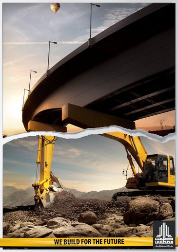 Nice Ads For A Construction Company Creative Advertising Graphic Design Ads Ads Creative