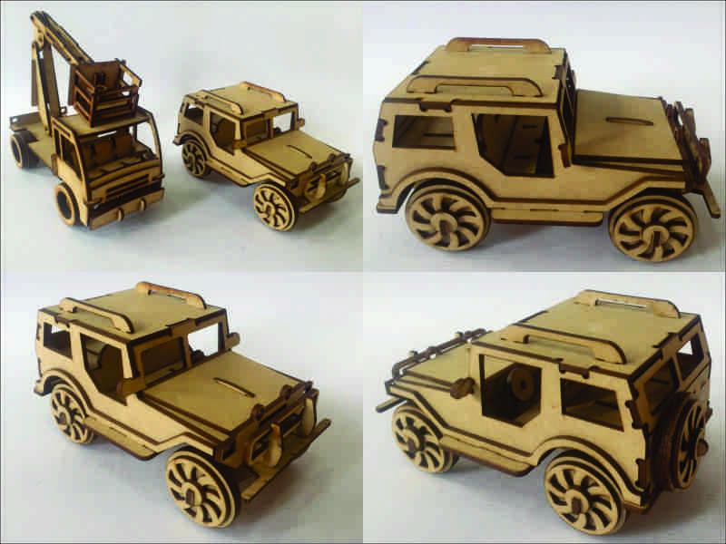 Juguete Carro Grua Regalo Jeep Madera Decoracion 60 000 En