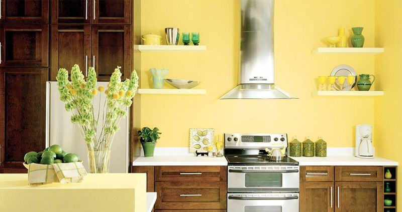 Tips For A Yellow Themed Kitchen Yellow Kitchen Walls Popular Kitchen Colors Kitchen Colors