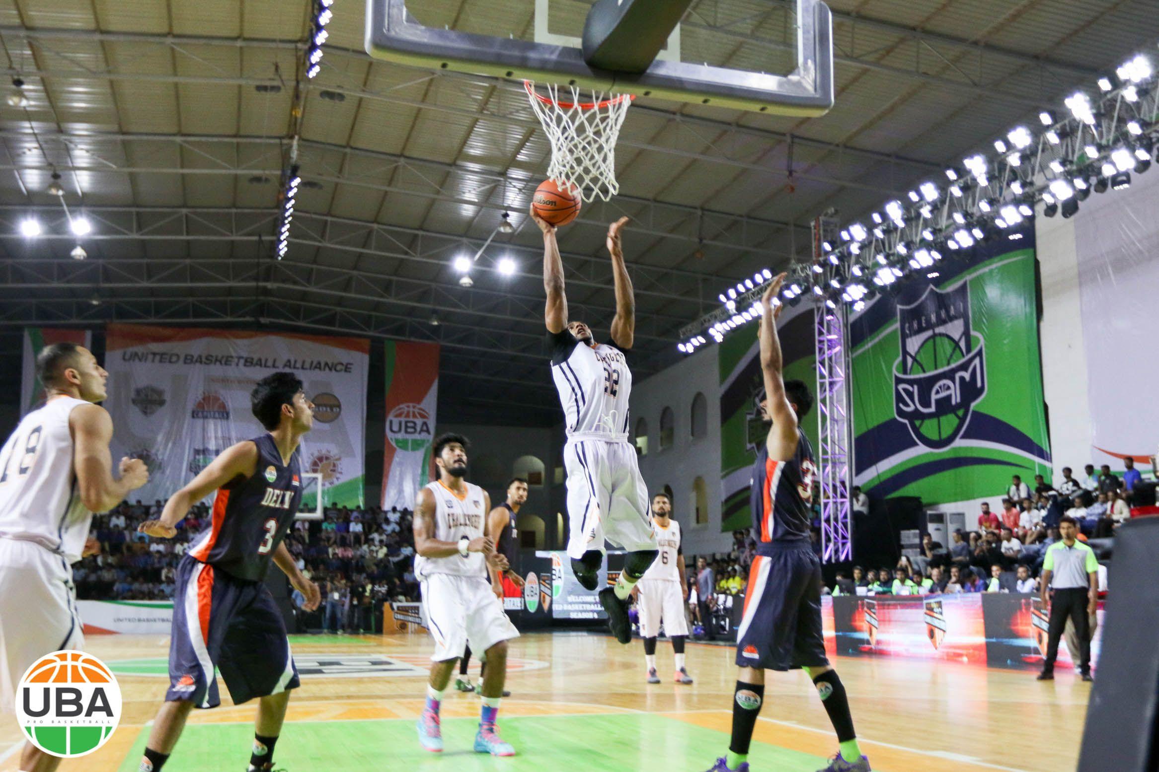 Jimmy Scroggins Getting Right Up To The Rim Vs Delhi Capitals Ubaindia Ubaseason4 Basketball Teams Uba Season 4