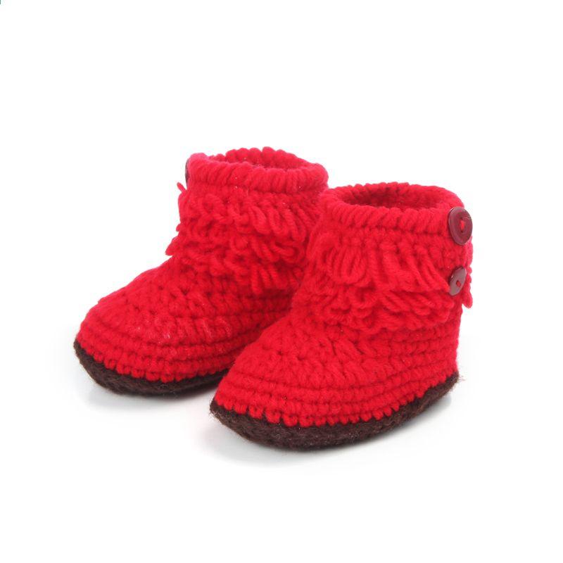 Baru Tenunan Tangan Bayi Balita Lembut Sepatu 0 6month Hi Top