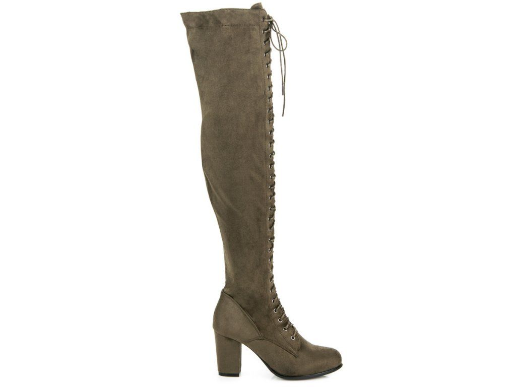 9a82149e3d Lacing Over-The-Knee Boots