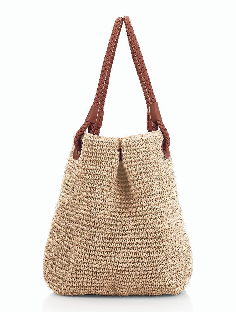 Talbots - Braid-Handle Straw Tote | Handbags | Handmade Handbags & Accessories - http://amzn.to/2ij5DXx