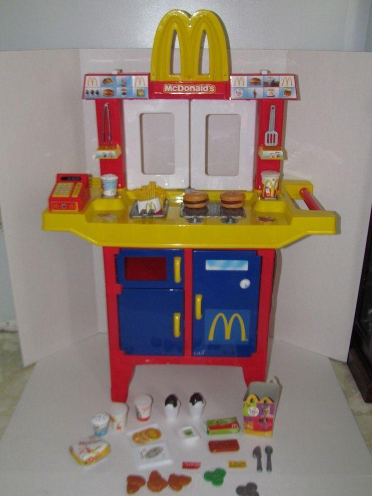 Mcdonald S Play Pretend Kitchen Drive Thru Playset W 26