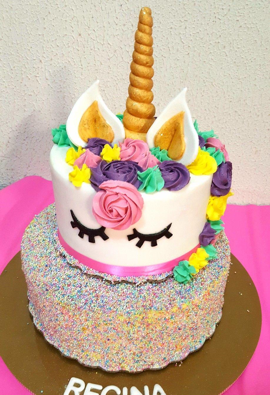 Pastel Unicornio Unicorn Cake Happy Birthday Birthday Cake Rainbow