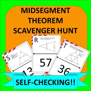 Midsegment Theorem In Triangles Scavenger Hunt Activity The Math
