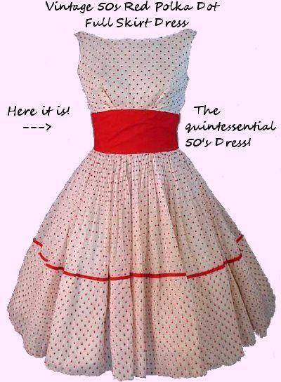 ISO Free Pattern for Vintage 50's Dress   Vintage dresses, 50s ...