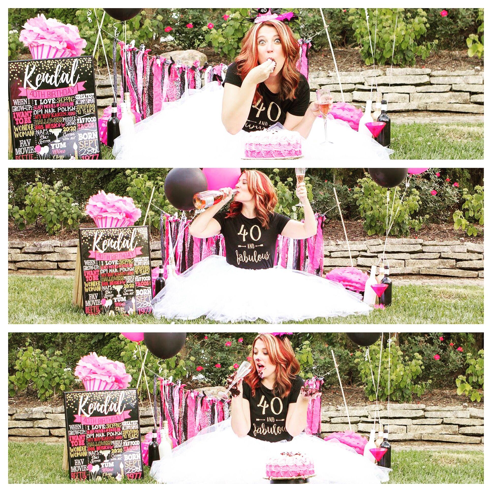40th birthday sign, 40th birthday board, adult smash cake signs, funny adult photo shoot ideas #40thbirthdayideasforwomen