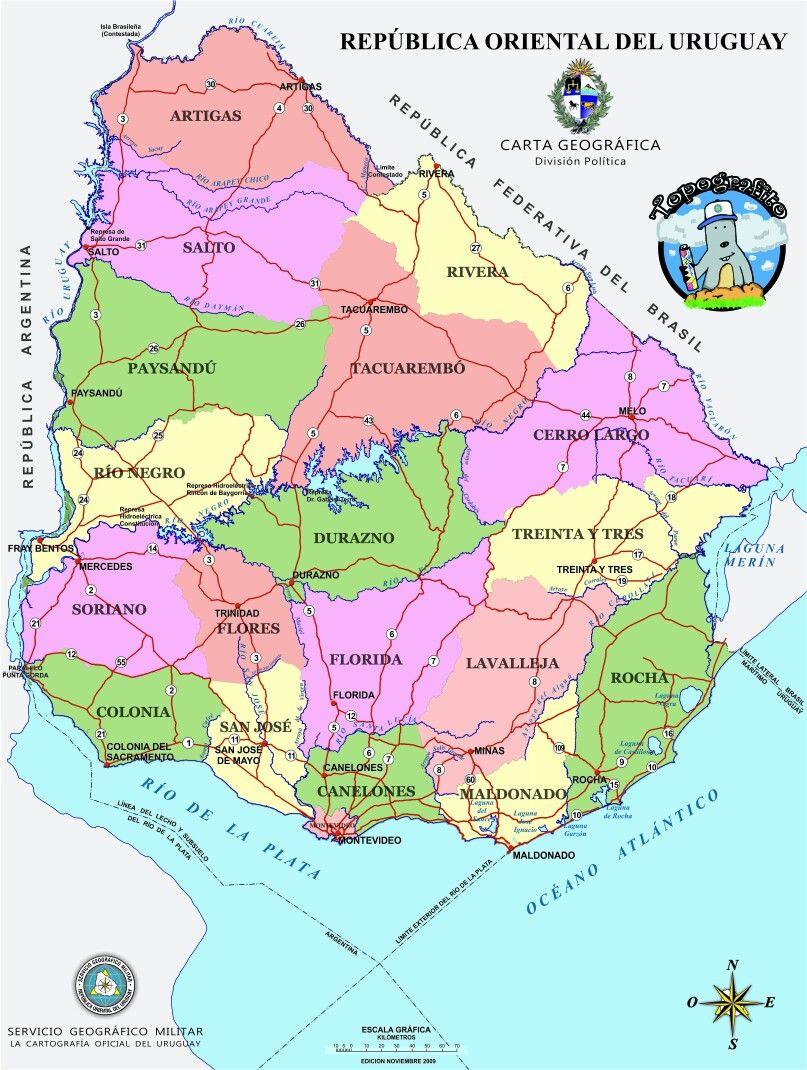 Pin By Mirtha Layes Martínez On Mapa Del Uruguay Pinterest - Uruguay map atlas