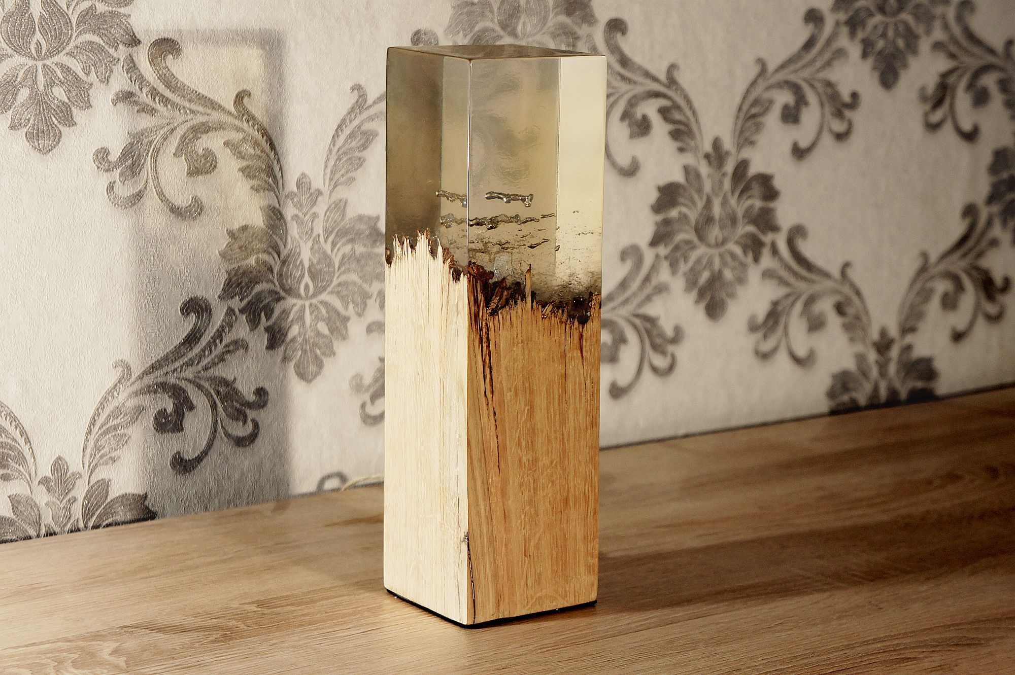 The unnatural combination between wood and acrylic glass, a fusion ...