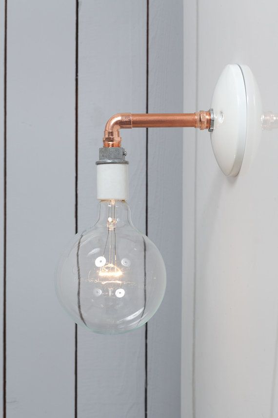bare bulb lighting. Industrial Wall Sconce Copper Pipe Light Bare Bulb By IndLights Lighting