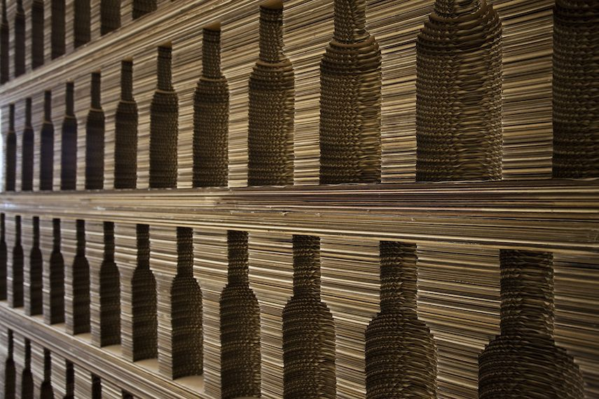 CANTINETTA PER VINI | Mobile cantina per vino in cartone ondulato tagliato laser - 55100