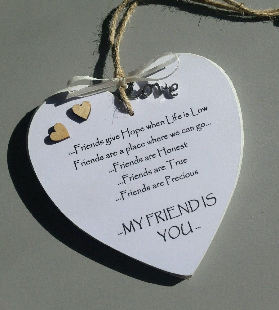 Christmas gift special friend present handcrafted heart