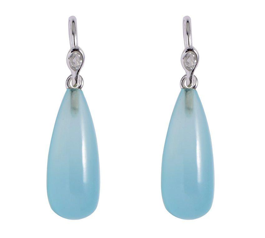 Birgitte Bonnerup øreringe, med vildt flotte aqua chalcedoner - passer perfekt sammen med Birgitte Bonnerups halskæde, der har samme design! #birgittebonnerup #smykker