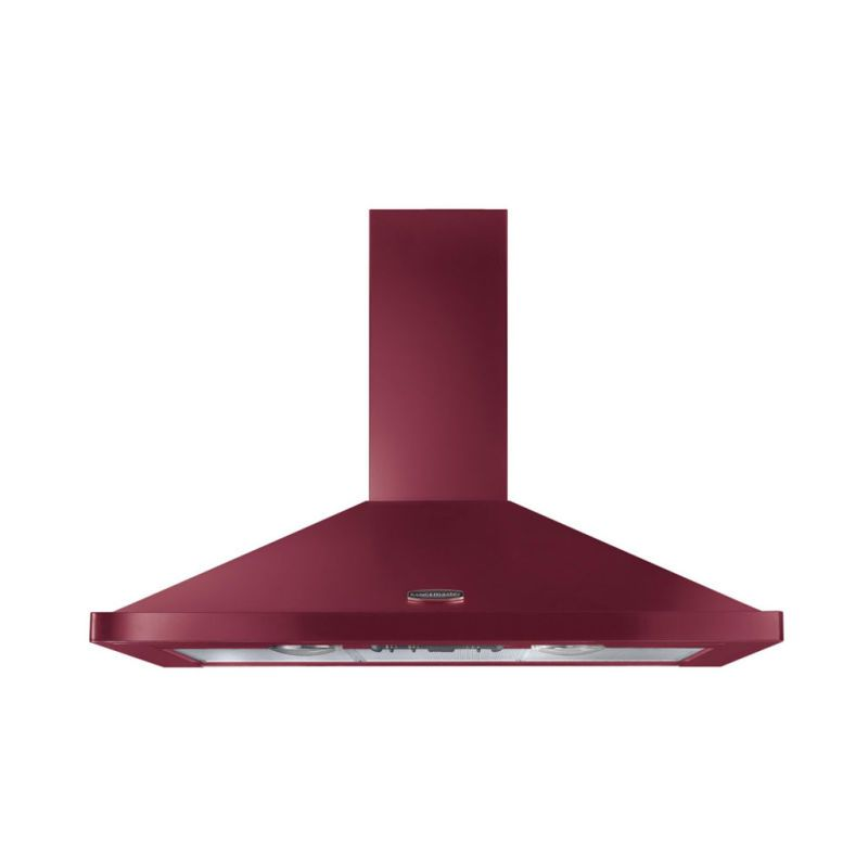 Rangemaster LEIHDC90CY/C 900mm Chimney Cooker Hood Cranberry Chrome primary image
