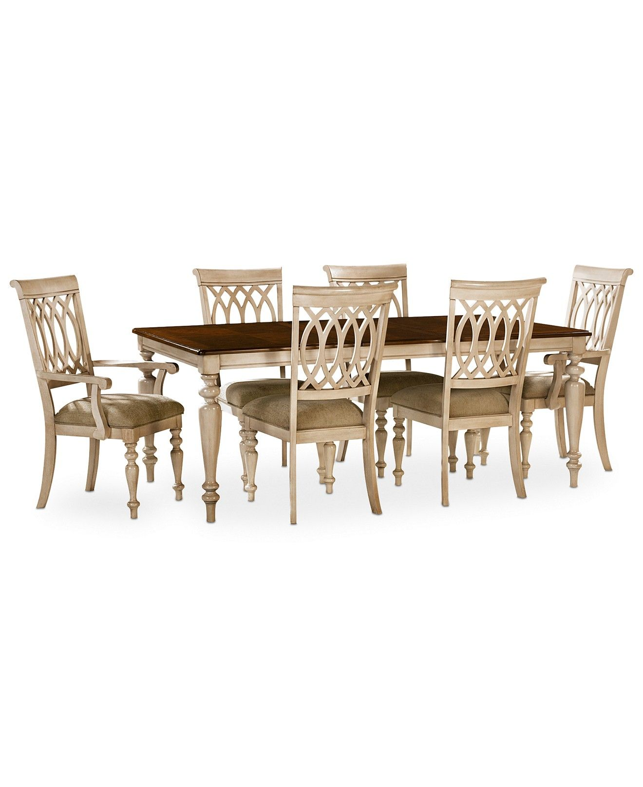 Dovewood Dining Room Furniture 7 Piece Set Table 4 Side Chairs