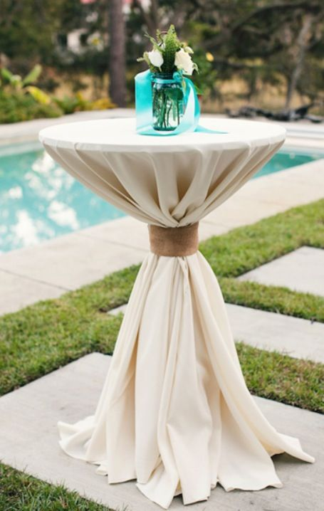 Perfect cocktail table linens. Just put festive decor on ...