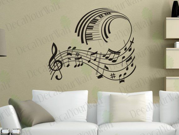 Music Wall Art Music Note Decals Musical Wall Decal Stickers