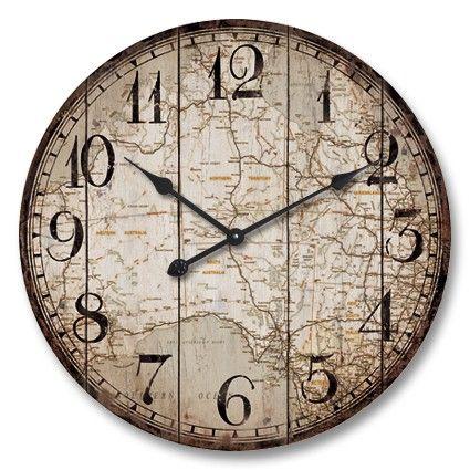 Large Round Industrial 60cm Australia Wall Clock Wall Clocks Lifestyle Lane Wall Clock Wooden Large Metal Wall Clock Large Round Wall Clock